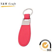 Chaveiro de presente de promoção de alta qualidade Chaveiro de anel de couro vermelho