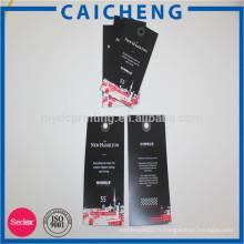 Impression faite sur commande de bagage, autocollants de Hangtag de tissu imprimant la carte de papier
