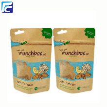 Customized for Kraft Paper Bags With Window Wholesale kraft paper bag with window and ziplock supply to Netherlands Importers