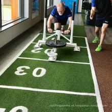 Césped de césped verde artificial para suelos de fitness gimnasio
