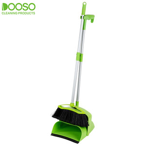 2019 Plastic Broom Aluminium Stick and Dustpan Set