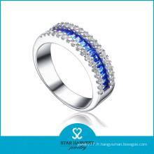 Meilleur anneau en argent sterling avec saphir (SH-R0060)