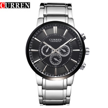 trend design curren business wrist watch japan movt quartz watch