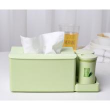 Porta-guardanapos para caixa de lenço de papel de bambu com porta-palito