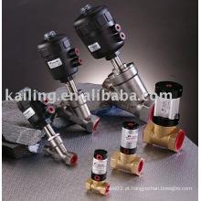 Válvula solenóide para latão e aço inoxidável, controlada por ar