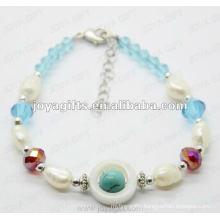 Fashion 2012 Joya Blue Glass Beaded Anklet