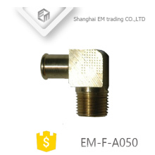 EM-F-A050 Conector macho de rosca rápido conector de codo de latón para manguera de aire