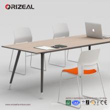 ORIZEAL table de conférence, table de bureau avec des pieds de table en acier pulvérisé
