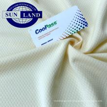 Tejido de malla hexagonal 100% poliéster para ropa deportiva y camiseta