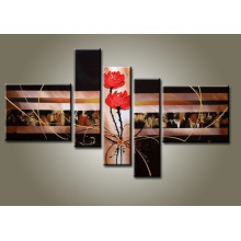 Framed Modern Canvas Abstract Oil Painting