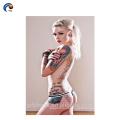 """Fêmea completa do tatuagem do corpo, etiqueta provisória traseira """"sexy"""" do tatuagem"""