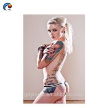Femelle de tatouage de corps entier, autocollant provisoire de tatouage de dos sexy