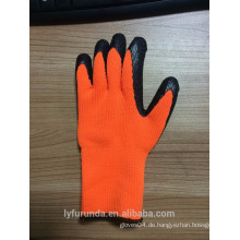 7-Gauge-Latex-Acryl-beschichtete Handschuhe, Falten-Finish