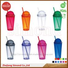 16oz BPA Free Stroh Tumbler mit Cap (SD-B301)