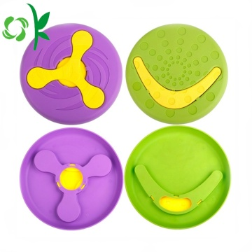 Afneembare Silicone Dog Fly Disc Pet Frisbee Toys
