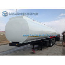 Semi-remorque à charbon à essence à 4 essieux à essence au carbone, 56000 litres, 56 tonnes, remorque à camion-citerne de 14800 gallons