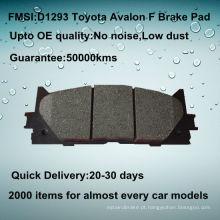 Toyota Avalon semi-metal freio pad D1293