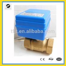 Válvula elétrica de motor de latão DC12V DN20 de 2 vias com operação de retorno de sinal de posição