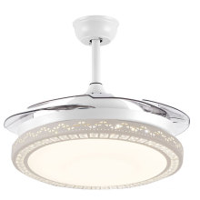 Modern Chandelier Fan Lighting Crystal Ceiling Fan Light With Remote Control