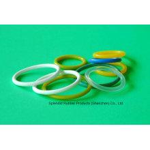 Blanco / Rojo / Verde / Azul / Claro / Amarillo O-Ring de goma de silicona