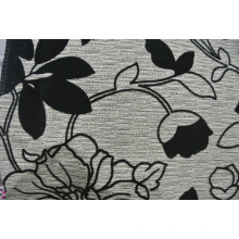 Black Flock on Fabric for Sofa in Cheap Price