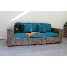 2017 Conjunto de sofá de jacinto de água duradoura e natural para o conjunto de vida interior Guisado artesanal