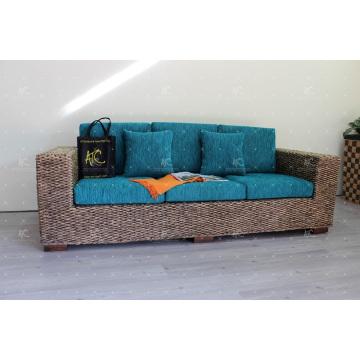 2017 Long-lasting And Natural Water Hyacinth Sofa Set for Interior Living Set Handmade Weaving