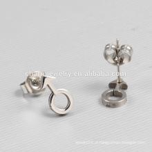 2016 Popular Jóias Produtos Símbolos sexuais Titanium Stud Earrings Unisex ZZE013