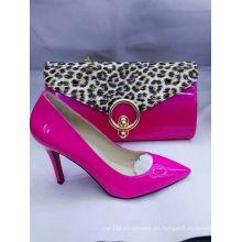 Zapatos calientes de las señoras de las ventas con la bolsa a juego del leopardo (G-19)