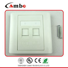 Good price 1/2/4 Port Australia wall plate cat 6 panel mount screw lock cat6