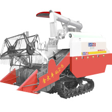 Grain harvester crawler type rice combine harvester