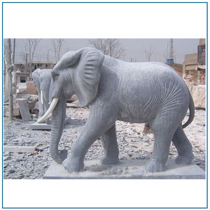 Garden Decor Marble Stone Animal Elephant Statues