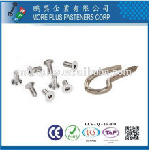 Taiwan Edelstahl 18-8 verchromter Stahl vernickelt Schrauben für Dusche Türschraube mit Innengewinde Haken Schraube M6