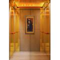 Titanium Gold and Etched Mirror Passenger Elevator