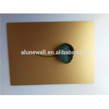 Painel de revestimento de parede de alumínio escovado