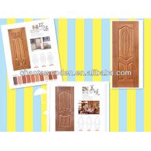MDF / HDF DOOR SKIN pour les cendres, le teck, le sapele, le placage de cerise