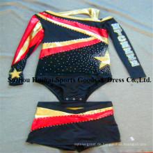 Metallische glänzende Cheerleading Uniformen