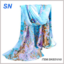 Wholesale 2015 Winter Fashionable Stock Pure Silk Scarf