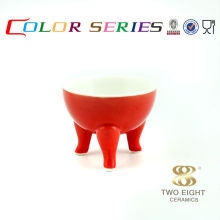 Red ceramic dog sauce bowl wholesale for restaurant Guangzhou