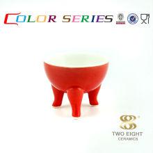 Красная керамическая собака чаша соус оптом для ресторана в Гуанчжоу