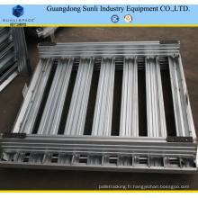 Palette de stockage en acier galvanisée empilable 1200X800