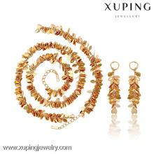 63795-new schmuck 18 karat gold quasten ketten perlen halskette schmuck set