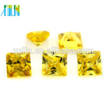 wholesale european machine cut 7*7mm loose unique cubic zirconia stones