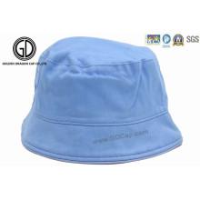 Custom 100% algodão bom em branco simples miúdo bebê balde chapéu