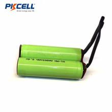 Paquete de baterías AA 900mah 2.4v ni-mh recargable