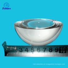 Material de vidro Diâmetro 0.65mm a 200mm meia bola lente