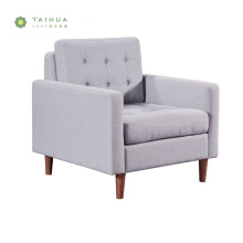 Grey Fabric Cushion Single Seat Sofa with Legs