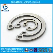 DIN472 GB893 en stock anneaux de retenue en acier inoxydable en circlips pour perçage