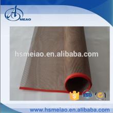 Cinta transportadora de malla de teflón de PTFE personalizada Con protección de borde de película roja