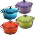 purple Iron Dutch Oven 10 inch cookware